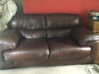 Leather 2seater sofa
