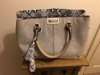River island grey handbag like new