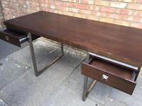 Stylish desk dark wood desk