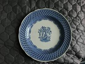 Blue white plate Spode Blueroom collection