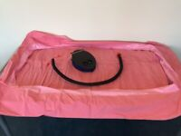 Kampa Kids Bumper Inflatable Airlock Air Bed Mattress in pink for Tent, Camping