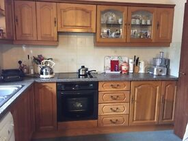 Wooden Kitchen including white goods