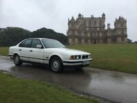 BMW 525 2.5 TDi, 1995 M-REG, WHITE, RARE 1 OWNER FROM NEW and 10 MONTHS MOT!!