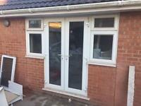 Set of Patio doors with side lights