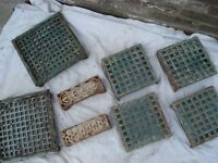 SELECTION OF ORIGINAL VITORIAN CAST IRON AIR VENTS GRILLE BRICK