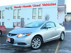 2012 Honda Civic Coupe EX - Only 18,312KM - Sunroof - Alloys