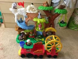 Fisher price little people zoo talkers animal zoo and train