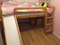 Pine Cabin bed with slide