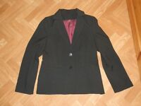 Ladies black suit (jacket and trousers) size 14