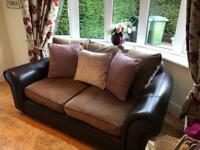 DFS 2 seater sofa & matching armchair