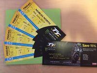 Ilse Of Man TT Tickets 2017 (x4) Granstand 9th June Senior Final