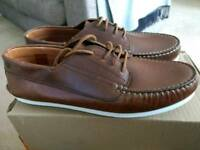 Brand new men's Red or Dead tan leather shoes