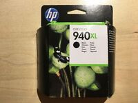 HP 940XL black printer ink cartridge, genuine, unopened