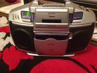 Cd and tape player