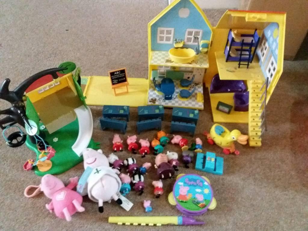 Huge lot of Peppa Pig toys