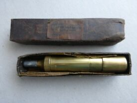 Motor Cycle Grease Gun. Tecalemit brass grease gun in original box, c. 1930, in as new condition.