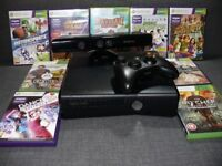 Xbox 360,kinect ,9 games and controller