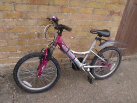"Rhapsody Falcon 20"" wheels GIRLS Pink /Silver 7-10yrs"