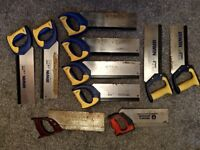 Tenon Saws / Crosscut Saws / Mitre Saws / Hand Saws - (4 out of 10 SOLD)