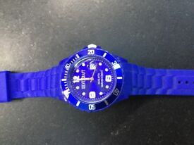 SILVEXCRAFT BLUE MENS BOYS WATCH EXCELLENT CONDITION (REQUIRES BATTERY)