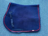 Navy & Red Saddle Cloth (Full size)