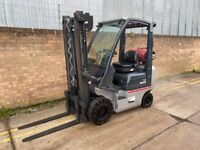 2010 Nissan 1.8ton gas forklift, clear view mast