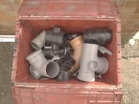 Plastic pipe fittings various sizes