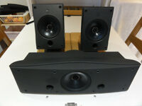 KEF 60S SP3235 Uni-Q Satellite Surround Speakers plus Centre Spk mint Condition