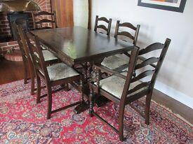 Jaycee dining table & 6 chairs