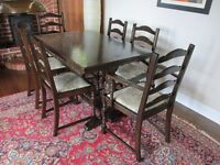 Jaycee dining table & 6 chairs