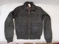 Slate / Grey Top Man Leather Jacket