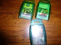 Good used condition Top Trumps 5 sets Horse & Ponies, Animals & Dinosaurs, Power Rangers Dinothunder