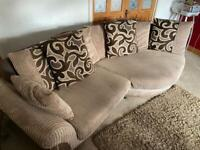 3 seater couch with snuggle chair and foot rest
