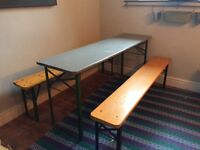 Table and two bench seats