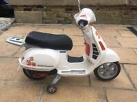 Peg perego 12v kids ride in toy, scooter Vespa
