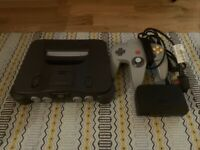 Nintendo 64 Black Console With One Controller