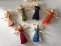 Rustic Angel wedding favours (ornaments)