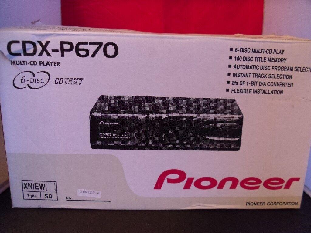 Pioneer Car CD Changer CDX-P670