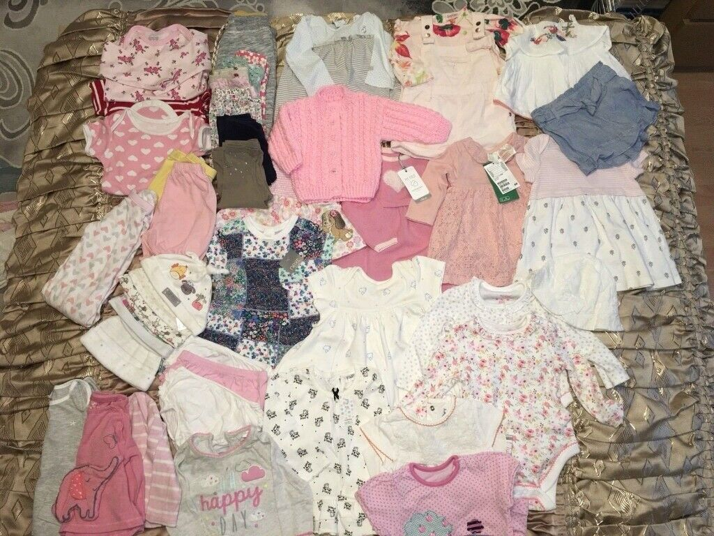 2dfb0be88 Large Bundle Of Baby Girl Clothes Age 3- 6 Months In Excellent ...