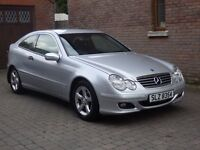 07 Mercedes c180 SE Coupe, ONLY 72k MILES £3350