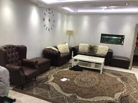 Real brown leathers sofa
