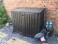 Large garden storage shed cupboard