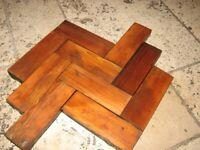 Pitch pine parquet woodblock flooring solid wood flooring