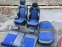 Ford Fiesta St150 half leather black/blue