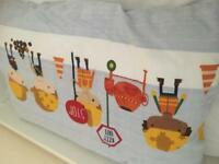 Next children's curtains, 2x duvet set, rug and lampshade.