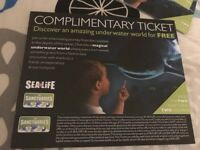 Sea life tickets for 4x person