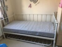 Girls Princess Bed with extra guest bed large crystal on each bedpost