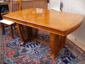 Large extending dinning table and chairs