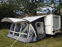 Kampa Fiesta Airpro 420 Inflatable Awning, plus canopy, carpet and annexe used twice