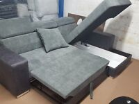 Very nice Brand New Corner sofa bed with storage . in Boxes. can deliver